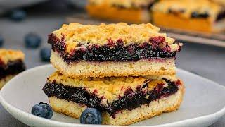 Тёртый пирог ✤ Blueberry Pie Bars
